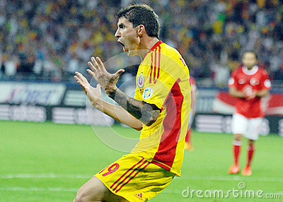 Bogdan Stancu anger reaction in Romania-Turkey World Cup Qualifier Game Editorial Stock Photo