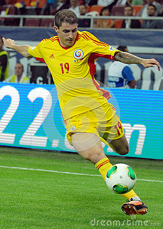 Bogdan Stancu players in Romania-Turkey World Cup Qualifier Game Editorial Stock Photo