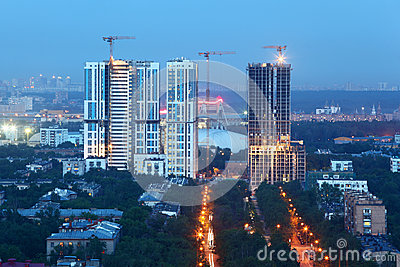 Bogorodsky residential complex under construction Editorial Stock Image