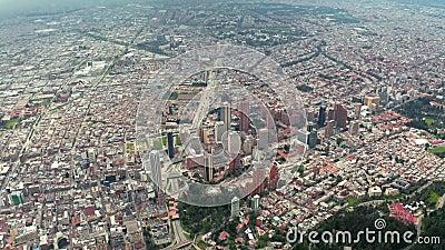 Bogota, Colombia van hierboven stock video