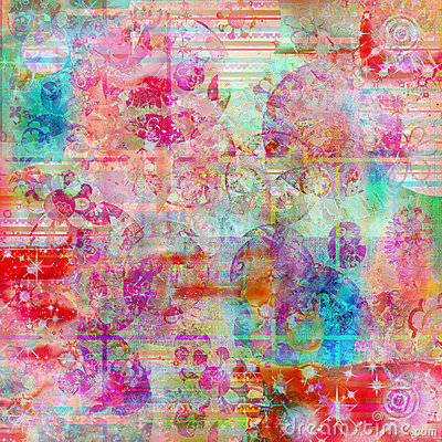 Free Bohemian Batik Water Color Texture Background Royalty Free Stock Photos - 779438
