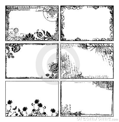 Free Bohemian Floral Frames Royalty Free Stock Photos - 12621158