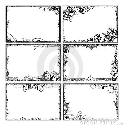 Free Bohemian Floral Frames Stock Photography - 12621822
