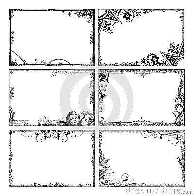 Bohemian floral frames