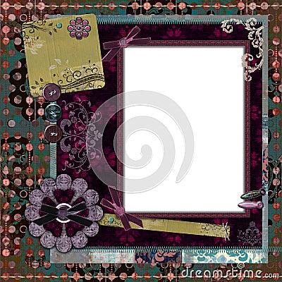 Bohemian Gypsy Floral Frame