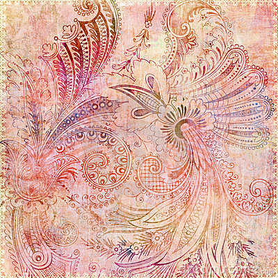 bohemian gypsy pink floral background stock photography