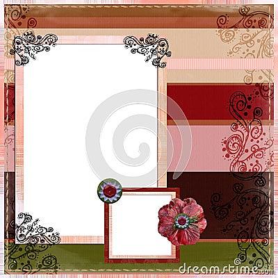 Free Bohemian Gypsy Scrapbook Album Page Layout Stock Photo - 844600