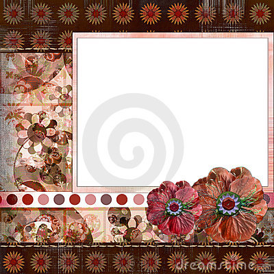 Free Bohemian Gypsy Style Scrapbook Album Page Layout 8x8 Inches Stock Photography - 844642