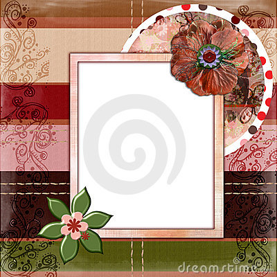 Free Bohemian Gypsy Style Scrapbook Album Page Layout 8x8 Inches Stock Image - 844751