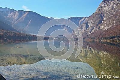 Bohinj Lake in Slovenia