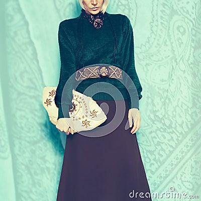 Free Boho Style Glamorous Lady. Spring Fashion Accessories Stock Photography - 51864952