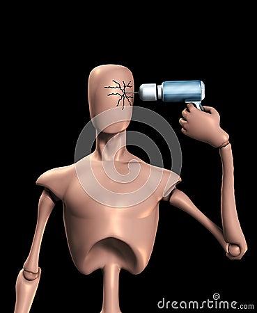 Bohrgerät-Kopf, der oben knackt