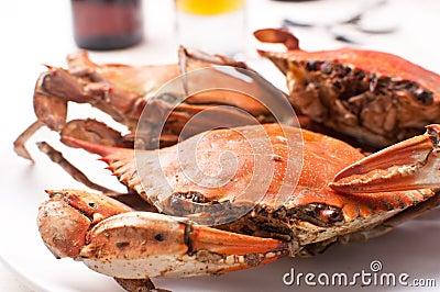 Boiled crabs for dinner