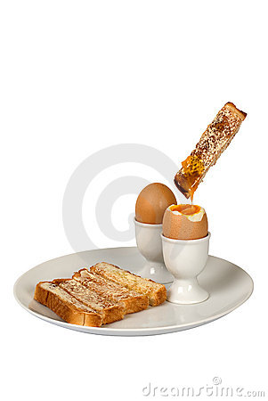 Free Boiled Egg And Toast Fingers Stock Images - 4372134
