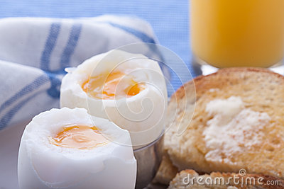 Boiled eggs for breakfast