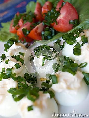 Boiled eggs salad