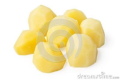 Boiled potato pieces