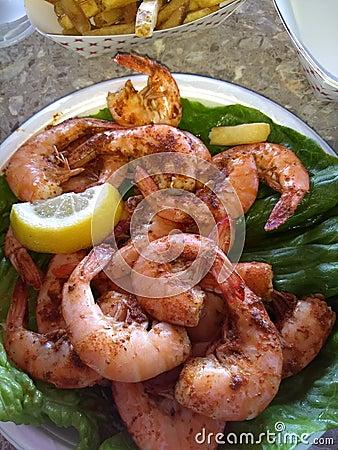Free Boiled Shrimp Stock Photo - 121003540
