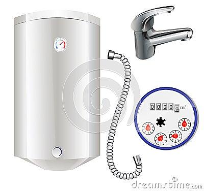 Boiler and water meter