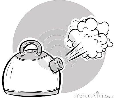 Kettle Steam Clipart Kettle Stock Illustrations