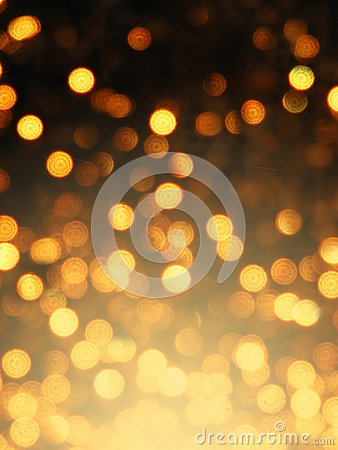 Abstract golden bokeh effect