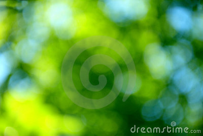 Bokeh blue and green