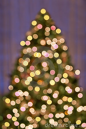 Free Bokeh Christmas Tree Lights Royalty Free Stock Photo - 15164365