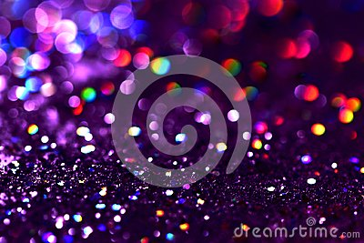 bokeh Colorfull Blurred abstract background for birthday, anniversary, wedding, new year eve or Christmas Stock Photo