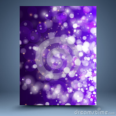 Purple and white bokeh abstract background