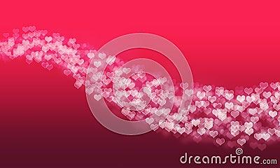 Bokeh heart line