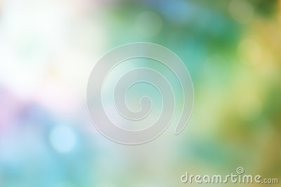 Bokeh Light on green Pastel color Background