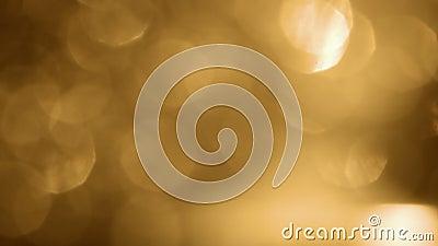 Bokeh macio super do ouro - efeito de cintilação claro do brilho e da faísca filme