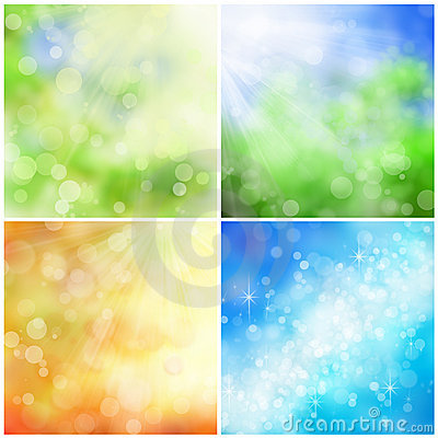 Bokeh nature backgrounds