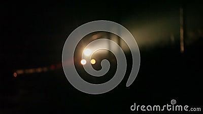 Bokeh nocy pociąg zdjęcie wideo