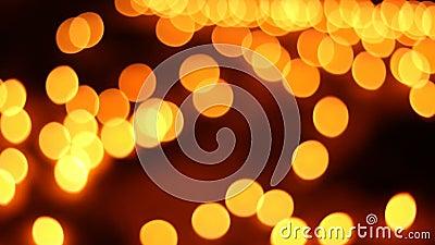 Bokeh ou vela do borrão que ilumina o fundo abstrato video estoque