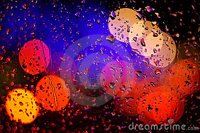 Bokeh and raindrop