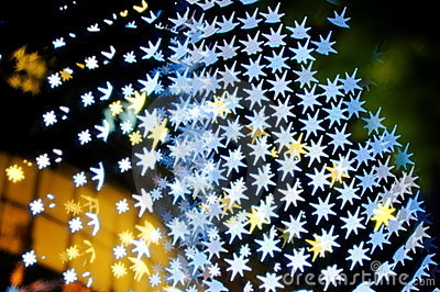 Bokeh series - blue stars
