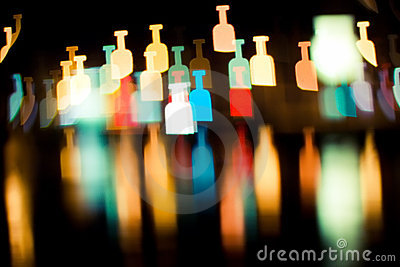 Bokeh series - bottles
