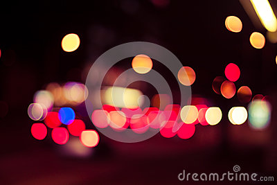 Bokeh street trafic light
