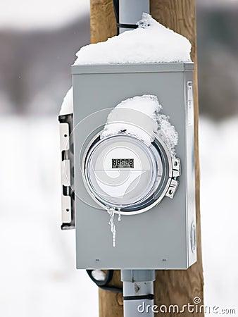 Boksuje elektrycznego metr