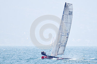 Bol D or Mirabaud sailing - Multicento 2012 Editorial Stock Photo