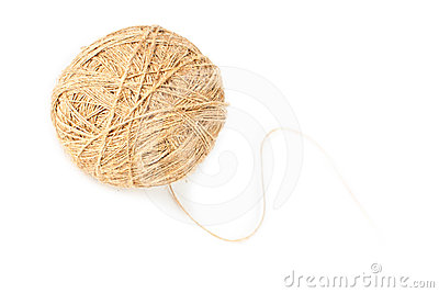 Bola de la cuerda de rosca de lino