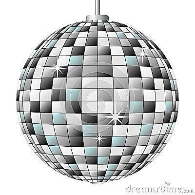 Bola del espejo del disco fotos de archivo libres de - Bola de discoteca de colores ...