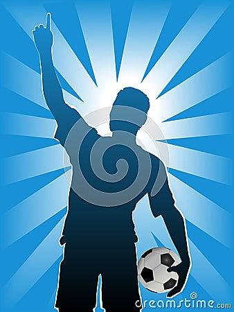 Bola del jugador de fútbol del balompié