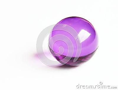 Bola púrpura del baño