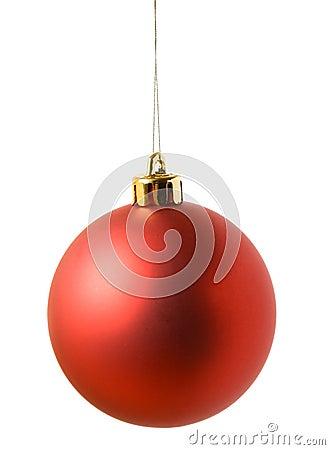 Bola roja de la Navidad