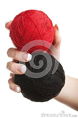 Bolas de la cuerda de rosca