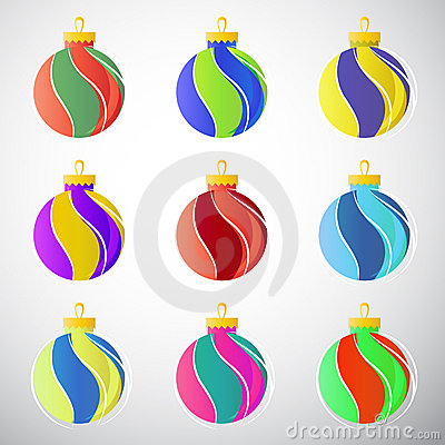 Bolas de la decoración de la Navidad