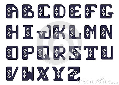 Bold Alphabet Consisting Of Capital Letters. Font Decoration ...