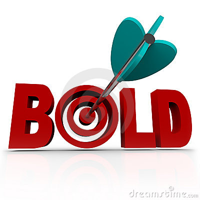 Bold - Arrow in Word Bullseye - Be Aggressive